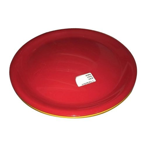 Dinner Acrylic Red Round Plate