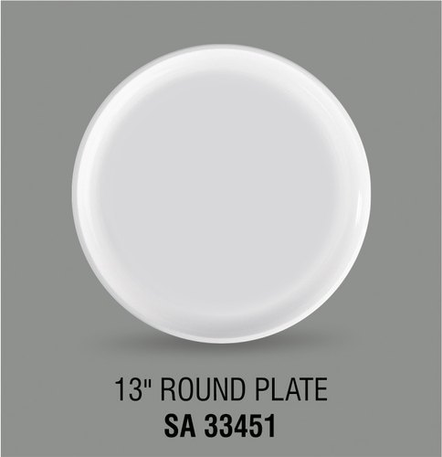 Acrylic 13 Inches Round Plates
