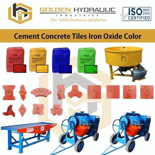 Cement Concrete Tiles Iron Oxide Color