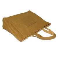 Jute & 150 Gsm Cotton Reversible Tote Bag With Pocket & One Color Allover Print