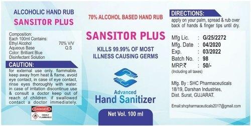 Sansitor Plus Hand Sanitizer Gel