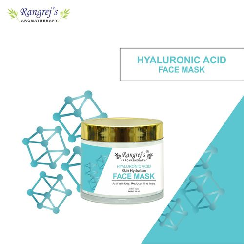 Rangrej's Aromatherapy Hyaluronic Acid Face Mask for Glowing & Brightening Skin Natural Skin Care Product for Men and Women (100ml)