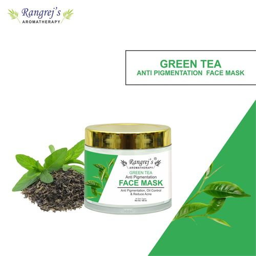 Rangrej's Aromatherapy Green Tea Face Mask For Glowing & Brightening Skin Natural Skin Care Product For Men And Women (100ml)