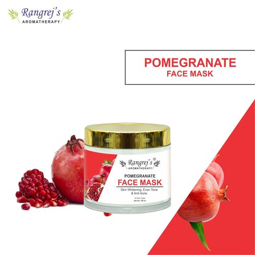 Rangrej's Aromatherapy Pomegranate Face Mask for Glowing & Brightening Skin Natural Skin Care Product for Men and Women (100ml)