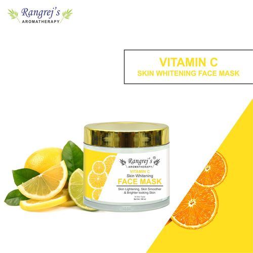 Rangrej's Aromatherapy Vitamin C Face Mask for Glowing & Brightening Skin Natural Skin Care Product for Men and Women (100ml)