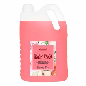 HARRODS Hand Wash, Aromatic and Nourishing Hand Soap, Infused with Natural Essential Oils - Blooming Rose, Shea Butter & Vitamin E Germ Fighting & Moisturizing Hand Parabens Free 5L