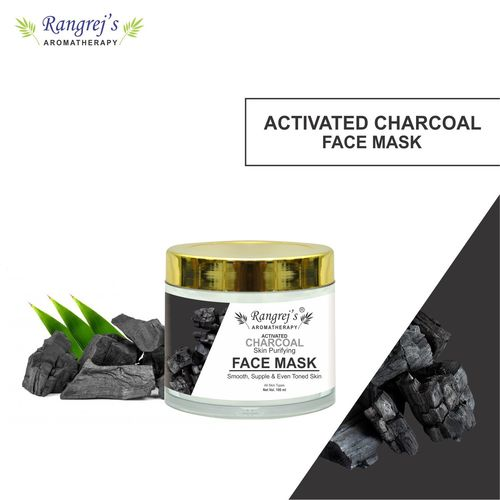 Rangrej's Aromatherapy Activated Charcoal Face Mask for Glowing & Brightening Skin Natural Skin Care Product for Men and Women (100ml)