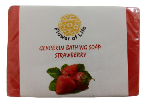 Strawberry Glycerin Bathing Soap