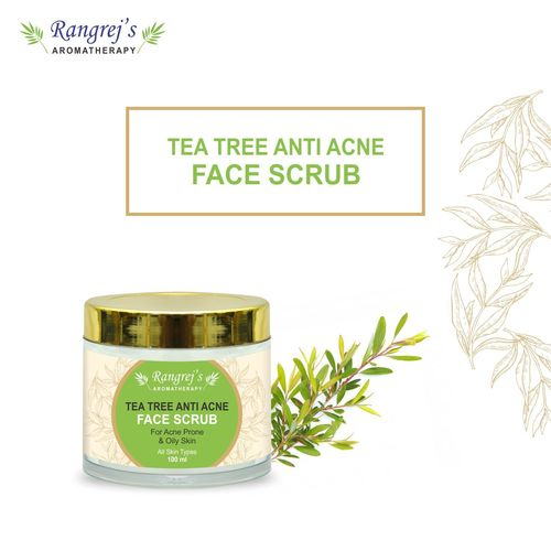 Rangrej's Aromatherapy Tea Tree Anti Acne Face Scrub for Radiant Glowing Skin For All Skin Type and for Men & Women (100ml)