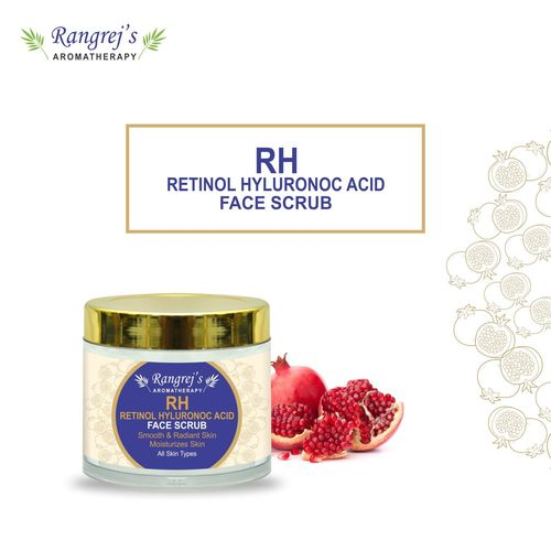 Rangrej's Aromatherapy Retional Hyaluronic Acid Face Scrub for Radiant Glowing Skin For All Skin Type and for Men & Women (100ml)