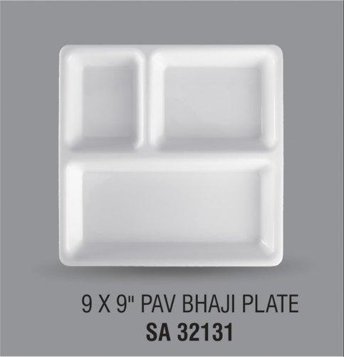 Multicolor Acrylic Pav-Baji Plate 9 Inch