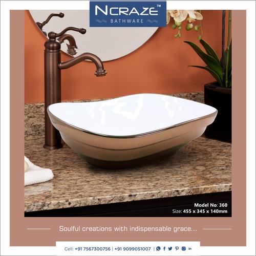 Art table top basin