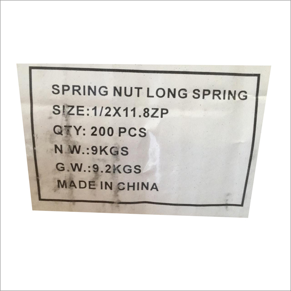 Spring Nut Long Spring