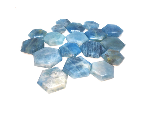 Blue Aquamarine Hexagon