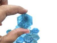 Blue Aquamarine Hexagon
