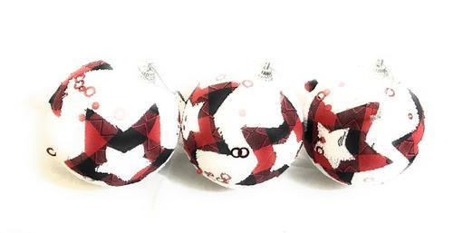 X-Mas Tree Hanging Balls 3 Pcs