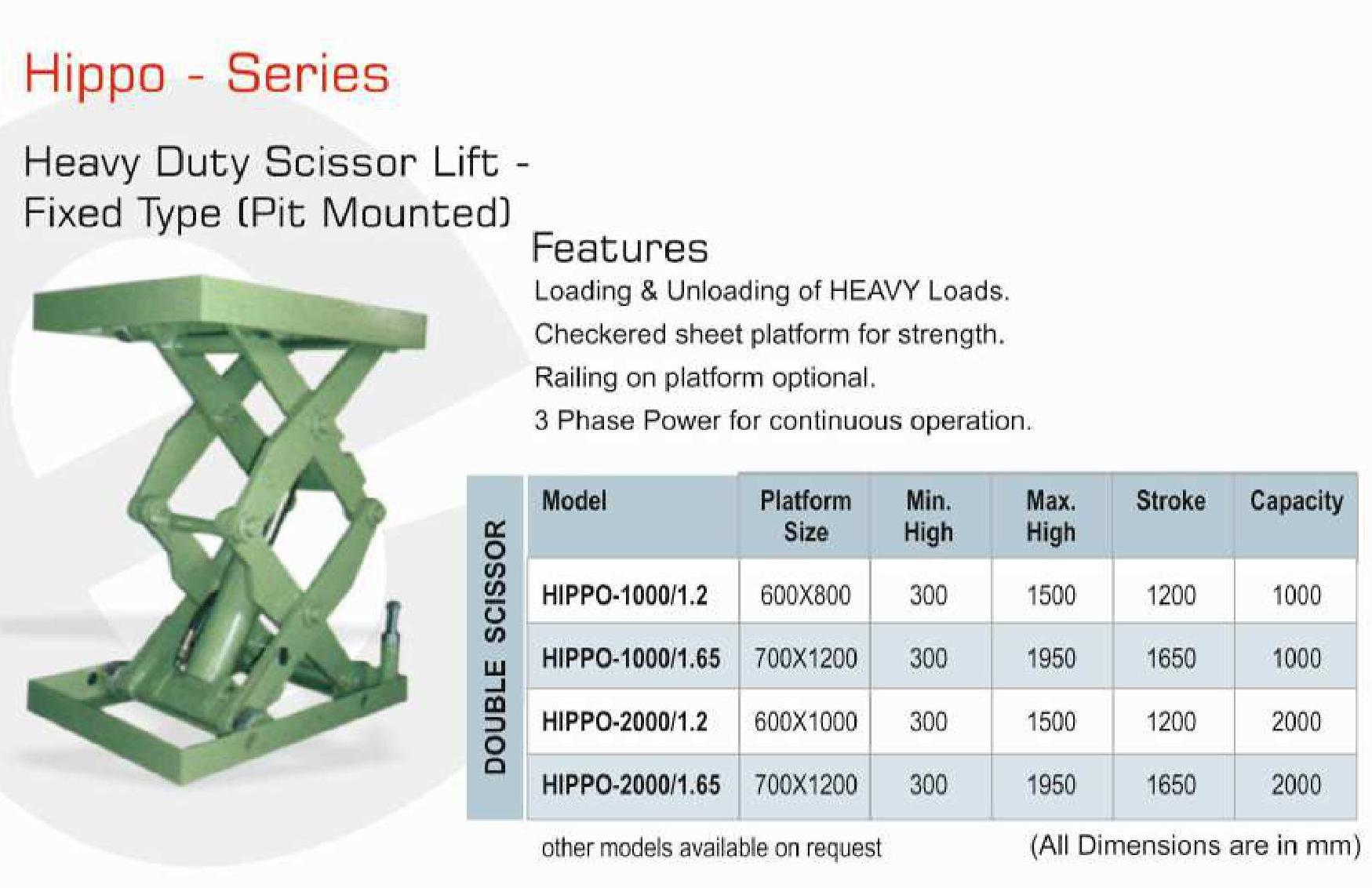 V-TECH Make Hydraulic Scissor Lift