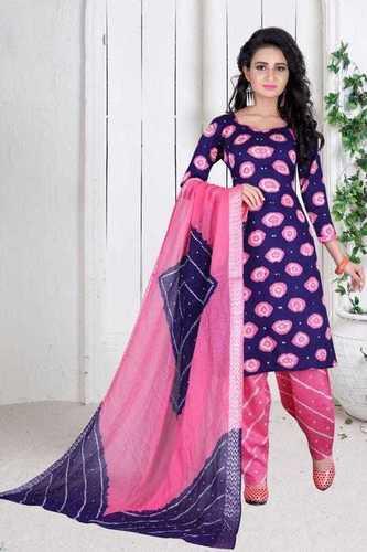 pink bandhani dress