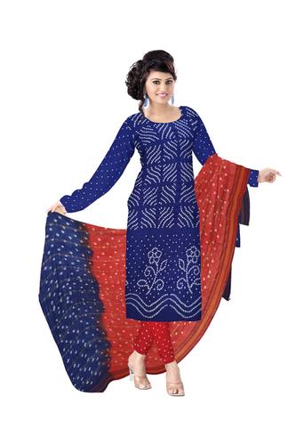 pure cotton bandhani dress