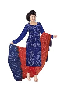pure cotton bandhani dress