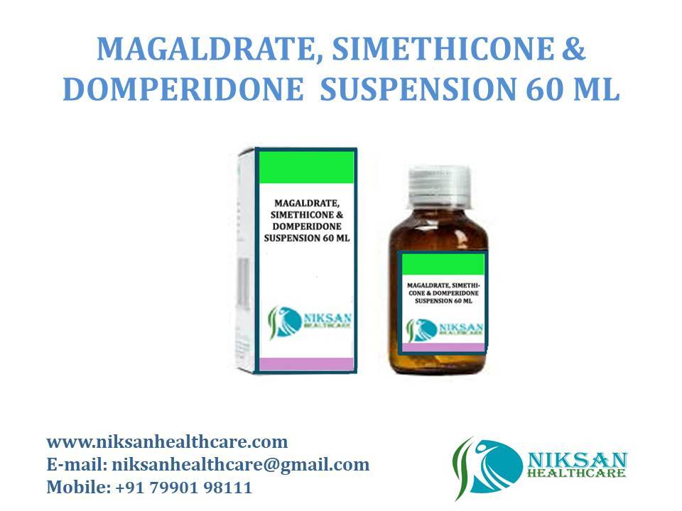 MAGALDRATE, SIMETHICONE &DOMPERIDONE SUSPENSION 60 ML