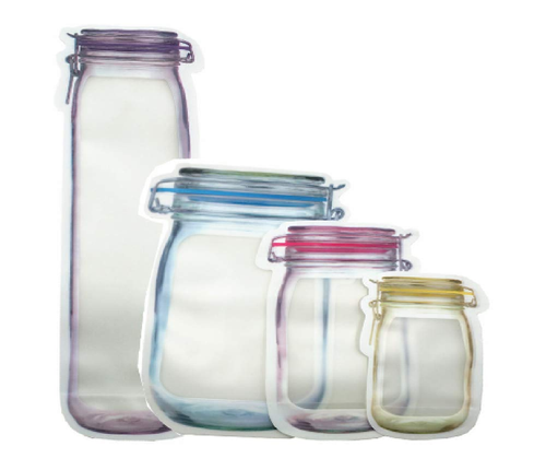 Jar Shaped Pouch With Zipper
