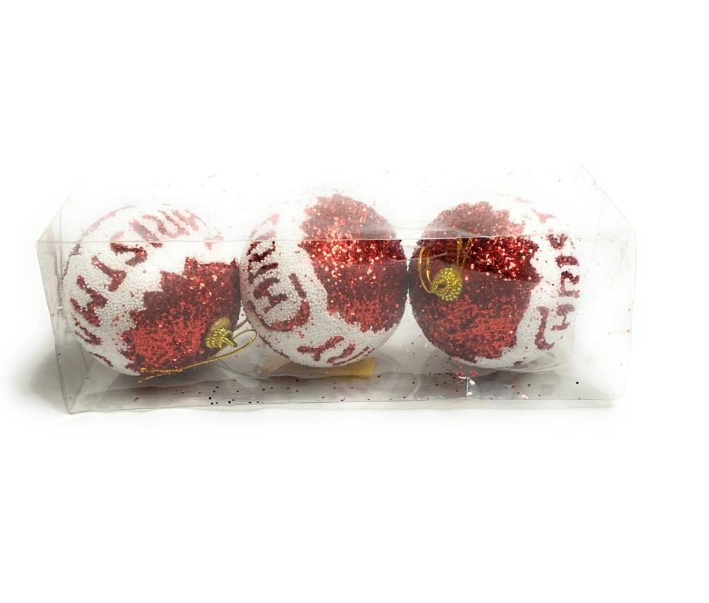 Christmas Tree Hanging Balls 3 Pcs