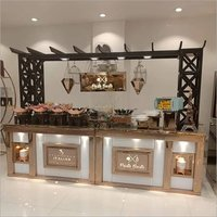 Wooden Wedding Catering Table