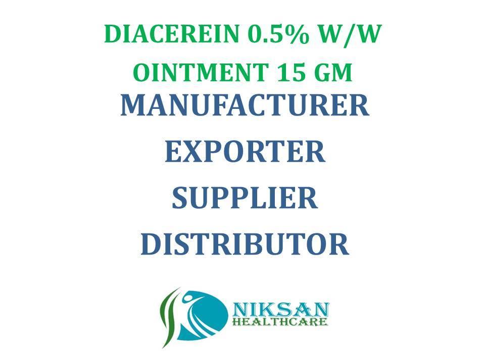 DIACEREIN 0.5% W/W OINTMENT 15 GM