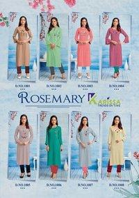 Rosemery Rayon Liva Kurti Catalogue