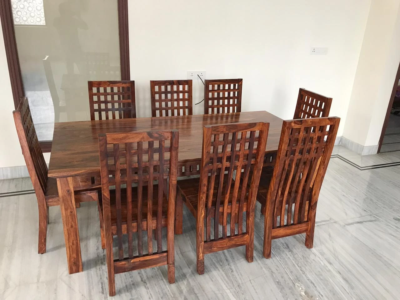 Solid Wood Dining Set with Bench