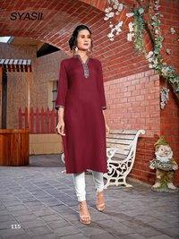 Maryam Embroidery Work Kurti Catalogue