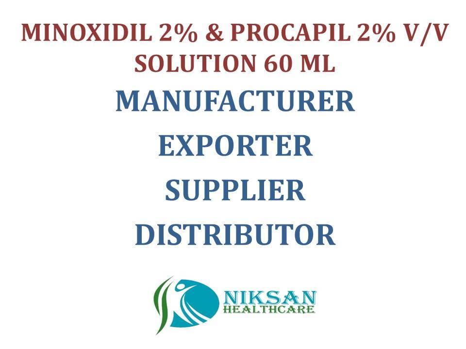 MINOXIDIL 2% & PROCAPIL 2% V/V SOLUTION 60 ML