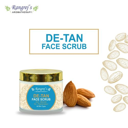 Rangrej's Aromatherapy De Tan Face Scrub For Radiant Glowing Skin For All Skin Type And For Men & Women (100ml)