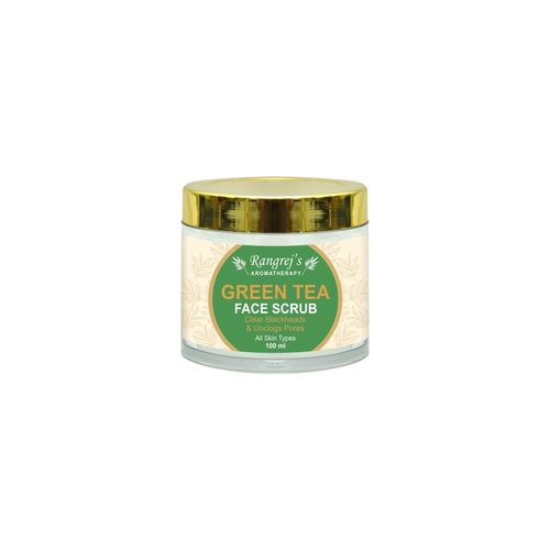 Rangrej's Aromatherapy Green Tea Face Scrub For Radiant Glowing Skin For All Skin Type And For Men & Women (100ml)