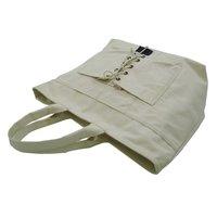 20 Oz Natural Canvas Tote Bag With Zip Closure & Outside Pocket