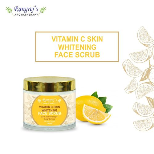 Rangrej's Aromatherapy Vitamin C Skin Whitening Face Scrub for Radiant Glowing Skin For All Skin Type and for Men & Women (100ml)
