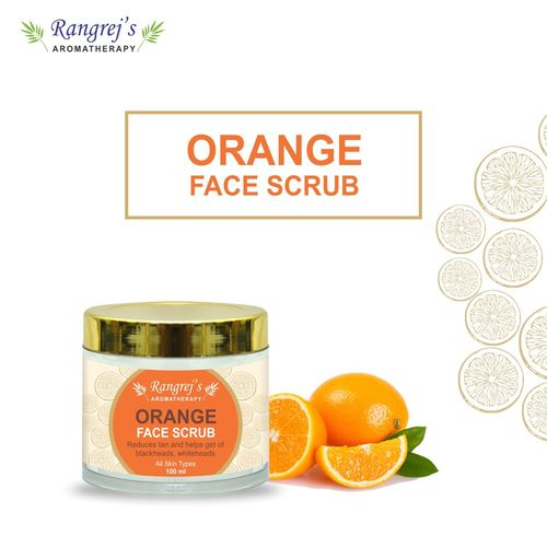 Rangrej's Aromatherapy Orange  Face Scrub For Radiant Glowing Skin For All Skin Type And For Men & Women (100ml)