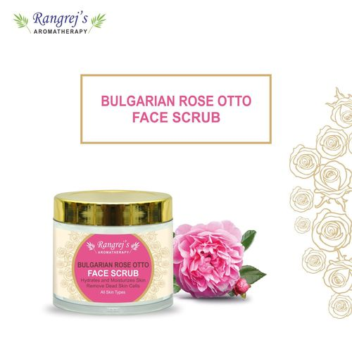 Rangrej's Aromatherapy Bulgarian Face Scrub For Radiant Glowing Skin For All Skin Type And For Men & Women (100ml)