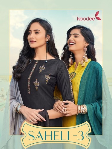 Saheli Vol-3 Chinon Kurtis Set