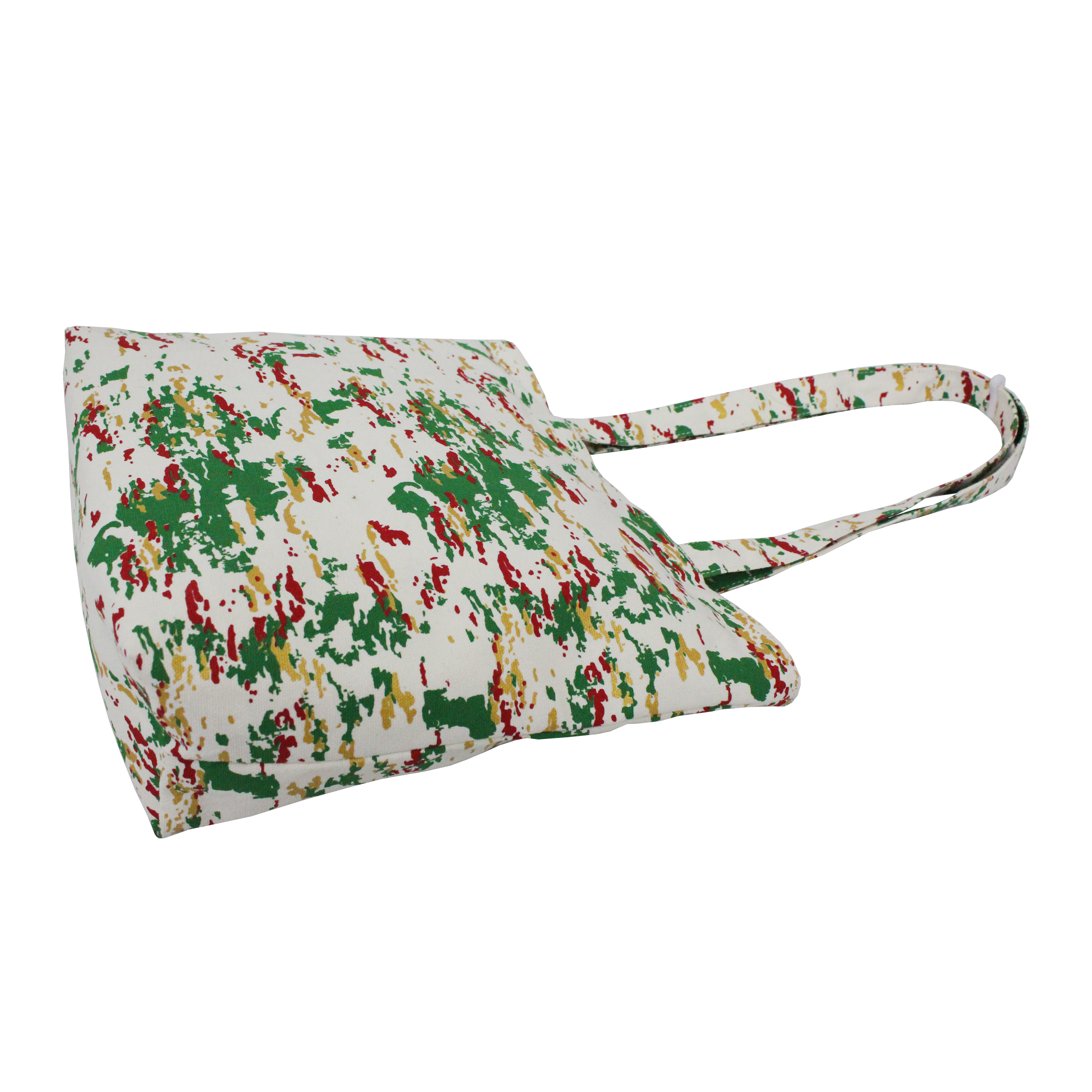 Cotton Shopping Bag With Overall Print