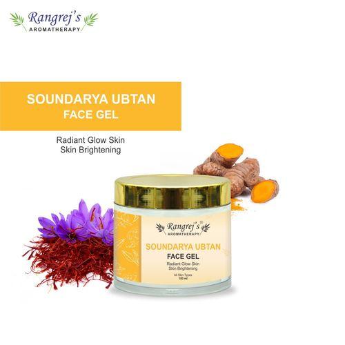 Rangrej's Aromatherapy Soundarya Ubtan Face Gel Health and Beauty Care Products For Skin Lighten/Brighten/Glowing/Moisturizing Skin 100ml