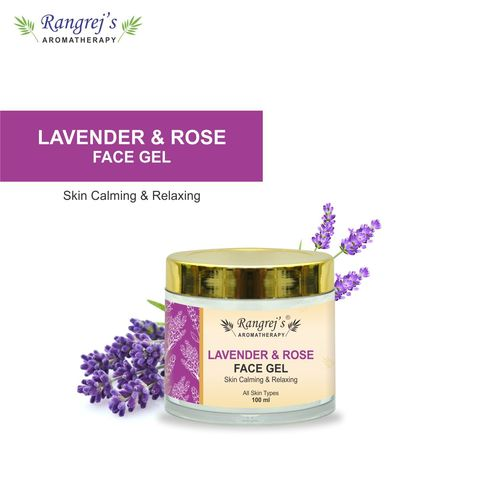 Rangrej's Aromatherapy Lavender & Rose Face Gel Health and Beauty Care Products For Skin Lighten/Brighten/Glowing/Moisturizing Skin 100ml