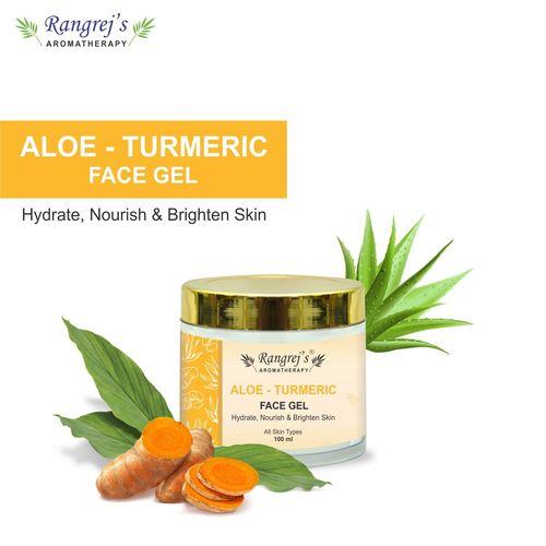 Rangrej's Aromatherapy Aloe Turmeric Face Gel Health and Beauty Care Products For Skin Lighten/Brighten/Glowing/Moisturizing Skin