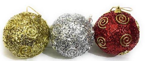 Christmas Decorative Ball Hanging  3 Pcs