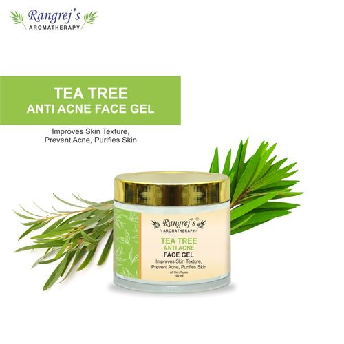 Rangrej's Aromatherapy Tea Tree Anti Acne Face Gel Health and Beauty Care Products For Skin Lighten/Brighten/Glowing/Moisturizing Skin 100ml