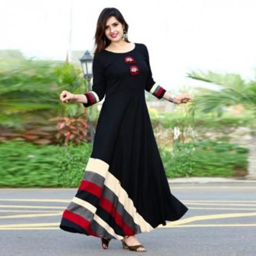 Women Self Design Cotton Silk A-line Kurta