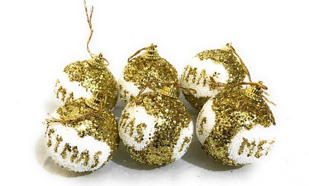 Christmas Tree Hanging Balls 6 Pcs