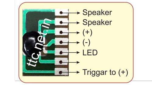 Tuk Tuk Sound IC Chip On Board For Musical Car Reverse Horn, Two Wheeler