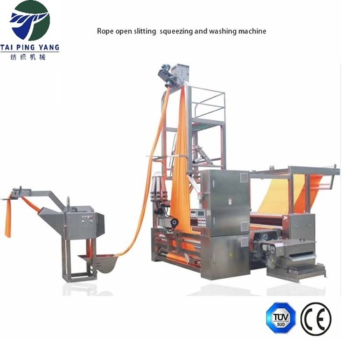 Tubular Fabric Slit and Open Roped Slitting Machine For Textile Dyeing Industries